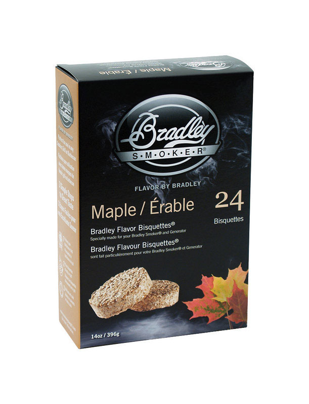 Bradley Smoker  Maple  10  All Natural Wood Bisquettes