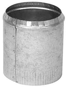 Imperial Manufacturing  4 in. Dia. 30 Ga. Galvanized Steel  Round Starting Collar