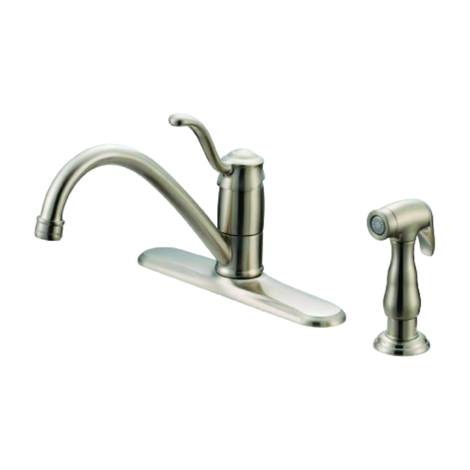 OakBrook  Tucana  Single Handle  One Handle  Brushed Nickel  Kitchen Faucet  Side Sprayer Included