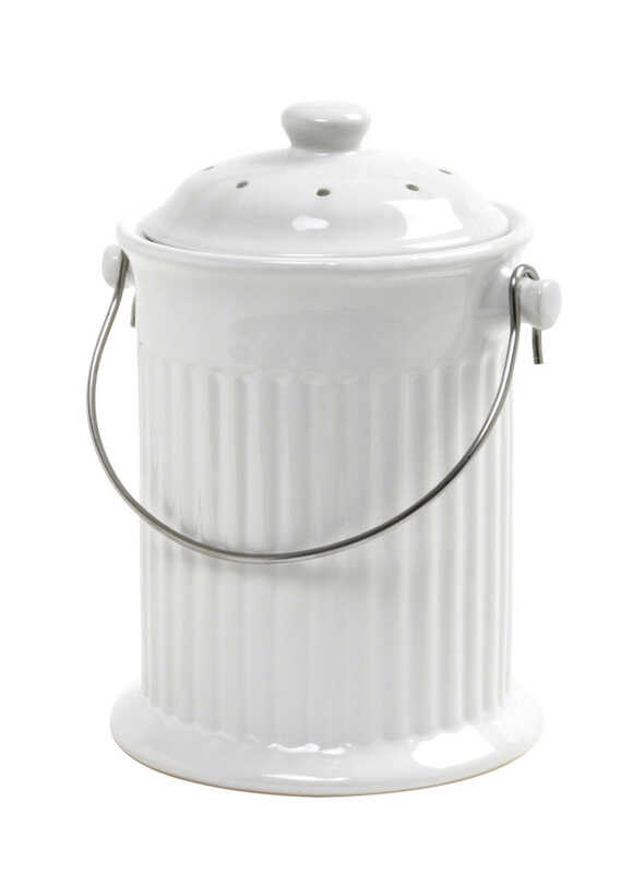Norpro  Nordic  8 in. W x 10-1/2 in. L White  Compost Keeper