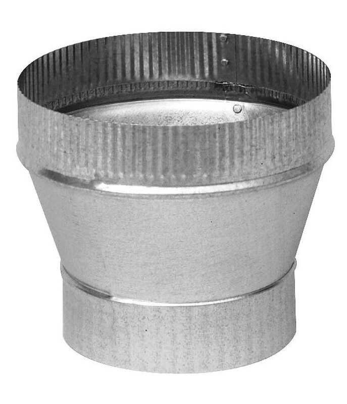 Imperial  6 in. Dia. x 8 in. Dia. Galvanized Steel  Stove Pipe Increaser