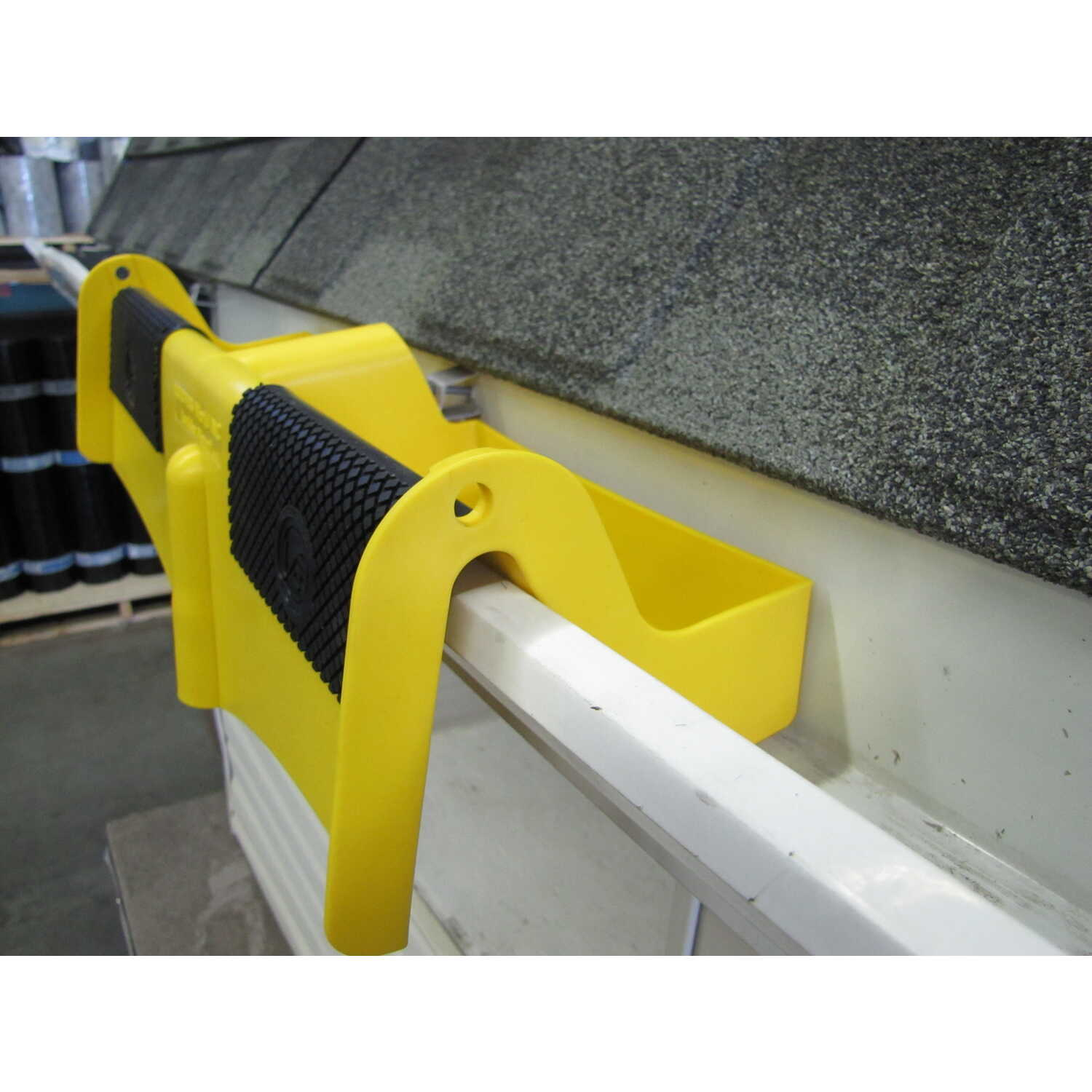 Roofers World  Ladder Mount  Plastic Polymer  Yellow  Ladder Stabilizer  1 pk