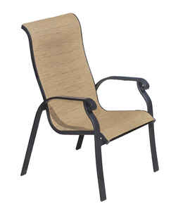 Living Accents  Stackable  Brown  Aluminum  Chair  Heritage