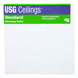 USG Ceilings  23.75 in. W x 0.5625 in. L Mineral Fiber  Square Edge  Ceiling Tile