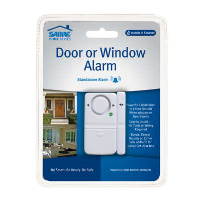 Sabre  White  Plastic  Door or Window Alarm