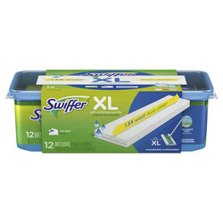 Swiffer  Sweeper XL  9 in. W x 16 in. L Wet  Cloth  Mop Refill  12 pk