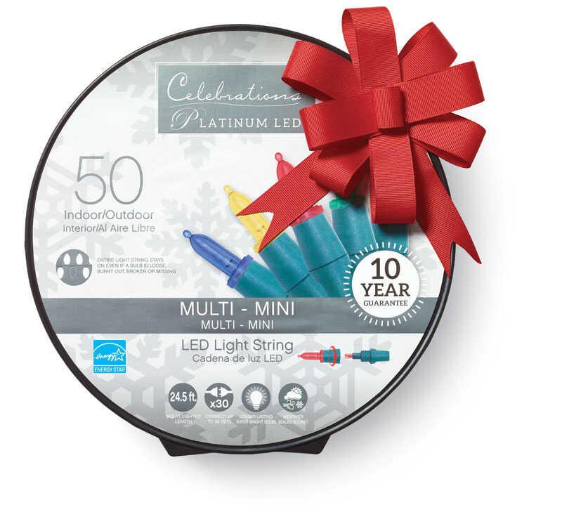 Celebrations Platinum Mini Led Light Set On A Reel