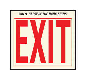 Hy-Ko  English  Exit  Sign  Vinyl  11 in. H x 12 in. W