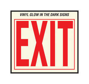 Hy-Ko  English  Exit  10 in. H x 12 in. W Vinyl  Sign