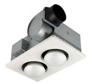 Broan  70 CFM 3.5 Sones Ventilation Fan/Heat Combination with Lights