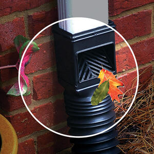 Invisaflow  2 in. W x 4 in. L Black  Plastic  Downspout Filter