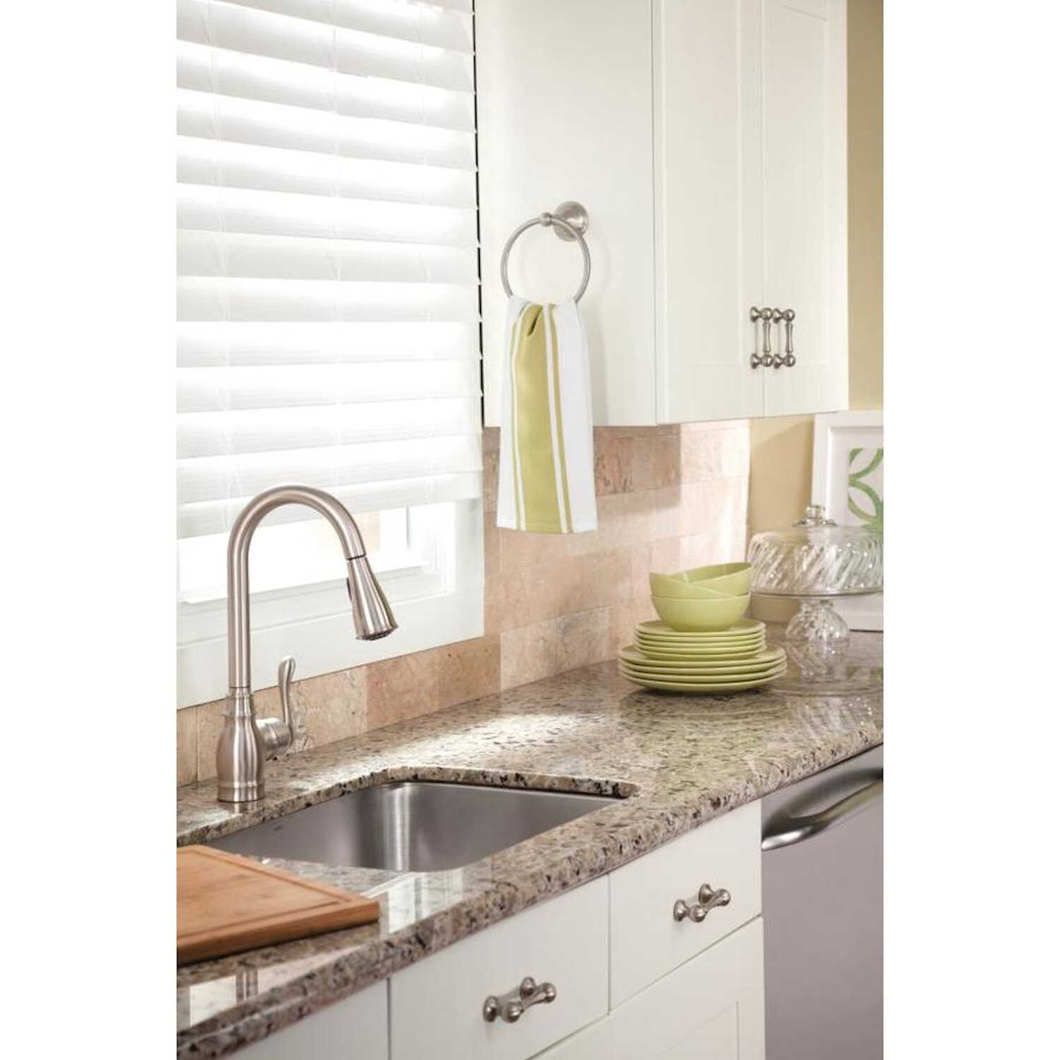 Moen Anabelle One Handle Stainless Steel Pull Out Kitchen ...