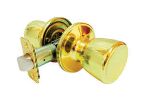 Faultless  Tulip  Polished Brass  Metal  Passage Door Knob  3 Grade Right Handed