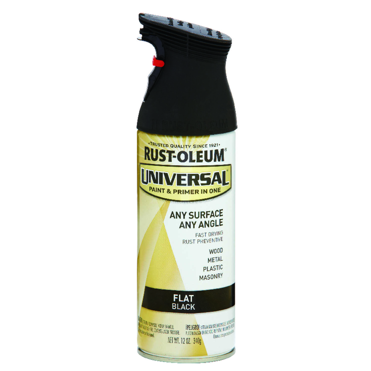 Rust-Oleum  Universal Paint & Primer in One  Flat  Black  Spray Paint  12 oz.
