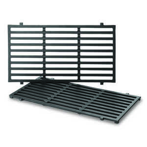 Weber  Cast Iron/Porcelain  Grill Cooking Grate  10.2 in. W x 0.5 in. H x 17.5 in. L