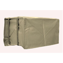AC Safe  17 in. H x 25 in. W PVC  Tan  Square  Outdoor  Air Conditioner Cover
