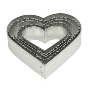 Harold Import  Silver  Heart Shaped Cookie Cutter Set