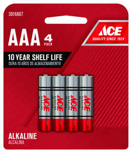Ace  AAA  Alkaline  Batteries  4 pk Carded