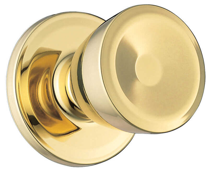 Weiser  Beverly  Polished Brass  Steel  Dummy Knob  3 Grade Right or Left Handed
