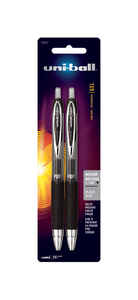 Uni-Ball  Signo  Black  Retractable Gel Pen  2 pk
