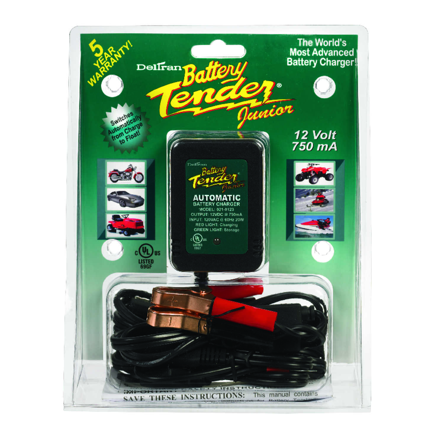 Battery Tender  Junior  Automatic  12 volt 0.75 amps Battery Charger