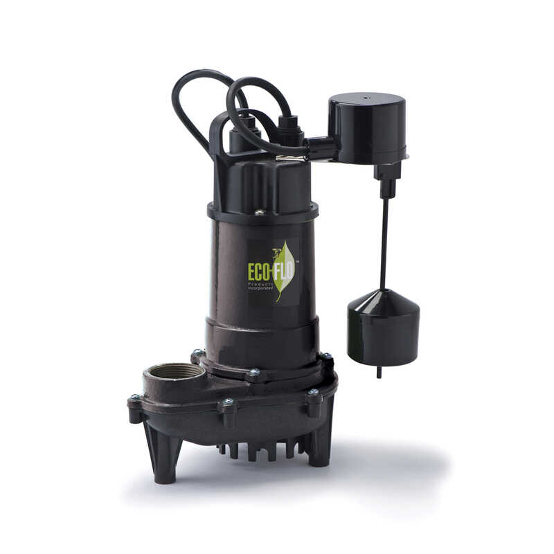 Ecoflo  1/3 hp 3300 gph Cast Iron  Submersible Sump Pump