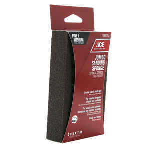 Ace  5 in. L x 5 in. W x 1 in.  120/80 Grit Assorted  Extra Large  Sanding Sponge