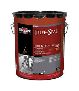 Black Jack  Tuff-Seal  Gloss  Black  Asphalt  Roof & Flashing Cement  5 gal.