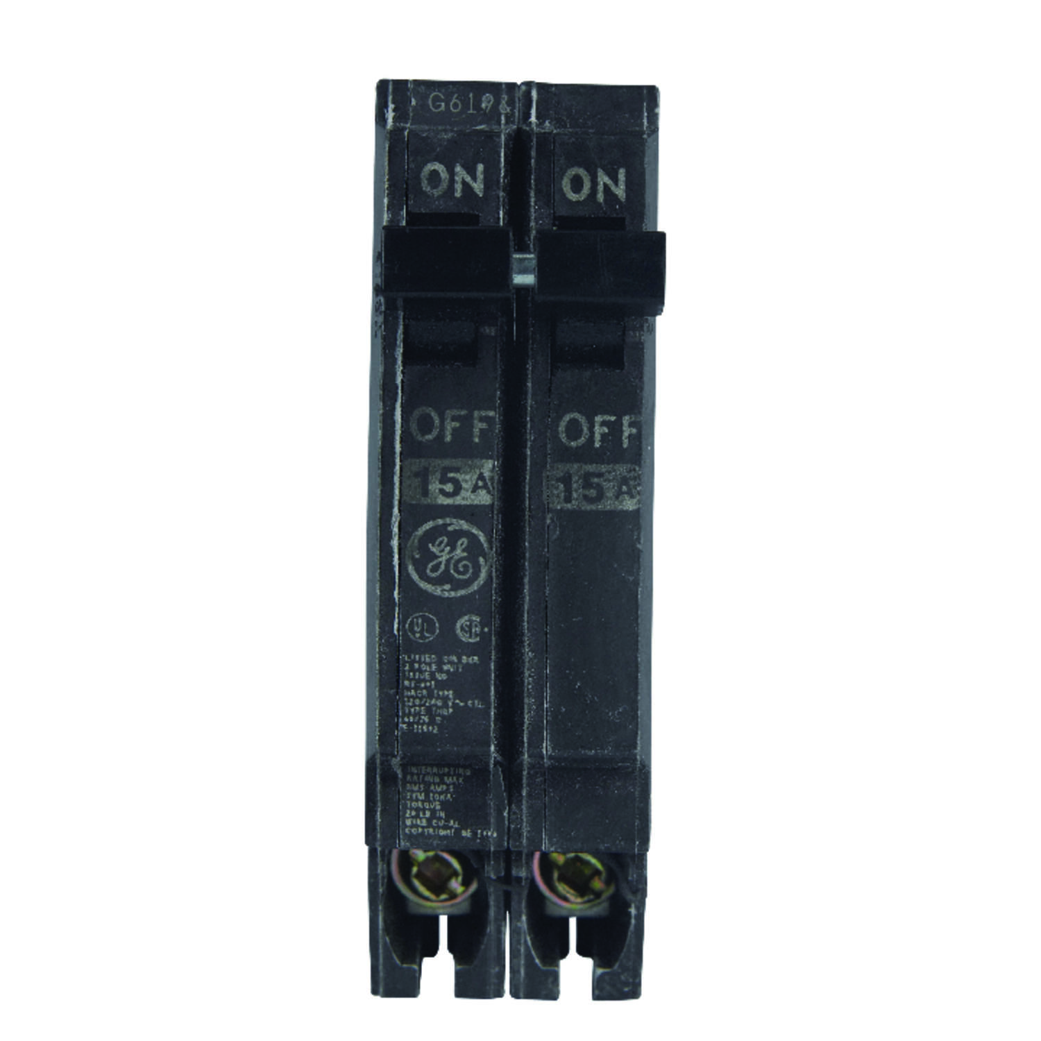 Ge Q Line 15 Amps Standard 2 Pole Circuit Breaker Ace Hardware 220 Amp Fuse Box With