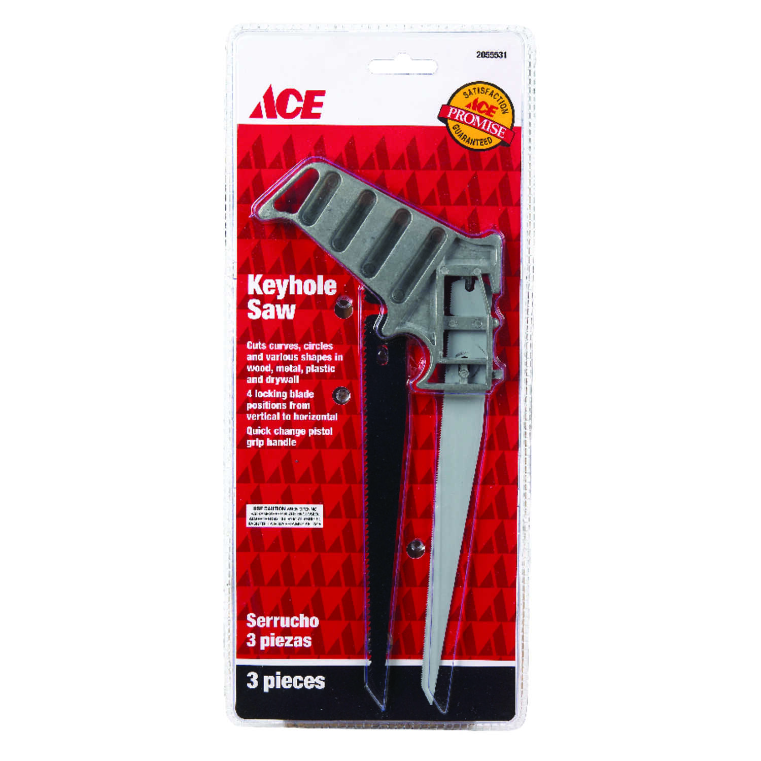 Ace  7 in. Metal  Keyhole Saw