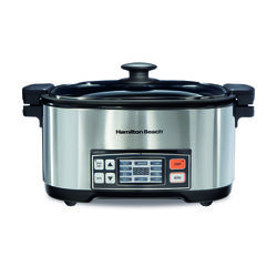 Hamilton Beach  6 qt. Silver  Stainless Steel  Programmable Multi-Cooker