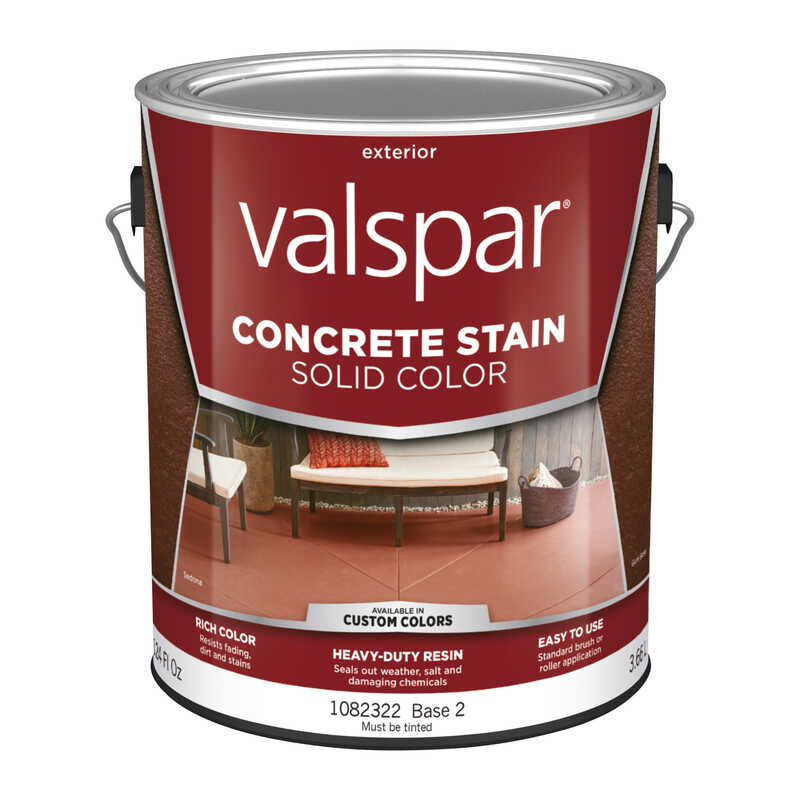 Valspar  Porch and Floor  Solid  Base 2  Resin  Concrete Stain  1 gal.