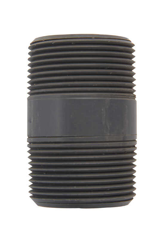 B&K  Schedule 80  1-1/4 in. MPT   x 1-1/4 in. Dia. MPT  PVC  For Pressure Applications Pipe Nipple