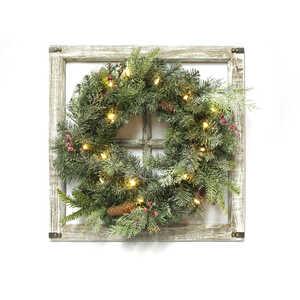 celebrations prelit green wreath 24 in dia warm white
