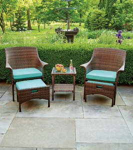 Living Accents  5 pc. Mendozza  Seafoam  Patio Set