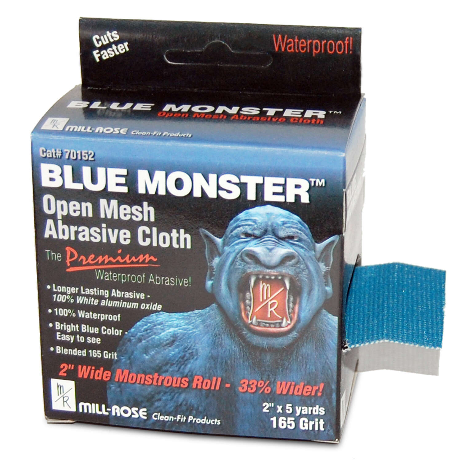 Mill Rose Blue Monster 5 yd. L x 2 in. W Aluminum Oxide 165 Grit Medium Open Mesh Abrasive Cloth