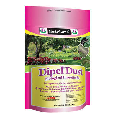 Ferti-Lome  Dipel Dust Biological  Dust  Insect Killer  4 lb.