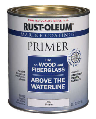 Rust-Oleum  Marine Coatings  Wood & Fiberglass  White  Primer  1 qt.