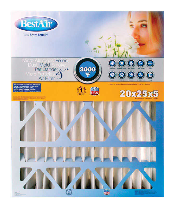 BestAir  25 in. H x 20 in. W x 5 in. D 13 MERV Air Filter
