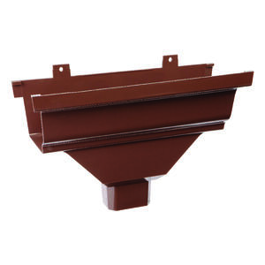 Genova  Repla K  2 in. H x 5 in. W x 13 in. L Brown  Vinyl  K  Gutter Drop Outlet