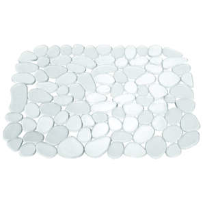 InterDesign  10.8 in. W x 12.3 in. L x 10.8 in. H Plastic  Clear  Sink Mat