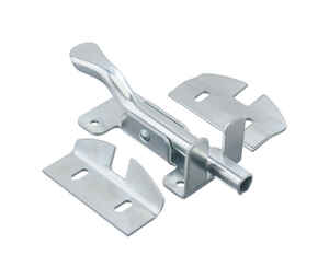 Ace  10.52 in. H x 4.75 in. W x 1.8 in. L Zinc-Plated  Metallic  Zinc  Top Mount Gate Latch