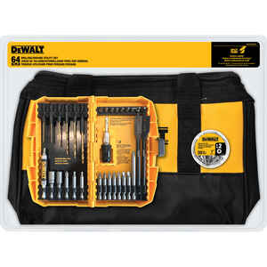 DeWalt  Multi Size   Drilling and Driving Utility Set  64 pc. Black Oxide