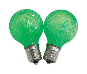 Celebrations  LED  G40  Replacement Bulb  Green  25 pk