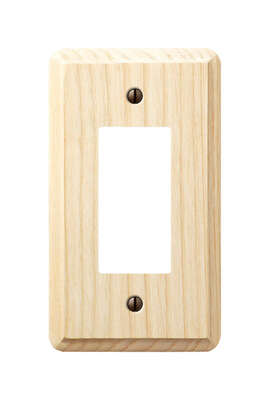 Amerelle  Contemporary  Unfinished  Beige  1 gang Wood  Rocker  Wall Plate  1 pk