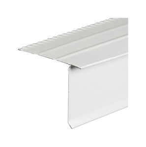 Amerimax  2.25 in. W x 10 ft. L Aluminum  Overhanging Roof Drip Edge  White