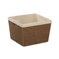 Honey Can Do  10 in. H x 15 in. W x 13 in. L Brown  Rope Basket