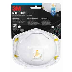 3M  N95  Respirator  Valved White  2 pc.