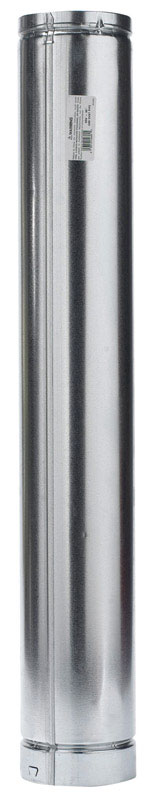 Selkirk  5 in. Dia. x 36 in. L Aluminum  Round Gas Vent Pipe