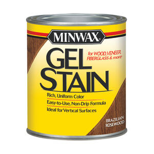 Minwax  Wood Finish  Transparent  Low Luster  Brazilian Rosewood  Oil-Based  Gel Stain  1 qt.